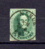 Léopold 1er, Médaillons Allongés, 9 Superbement Oblitéré Namur, Cote 140 €, - 1858-1862 Medallions (9/12)