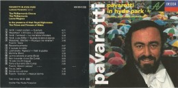 Pavarotti In Hyde Park, CD Decca 1992. - Music & Instruments