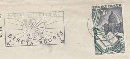 1956 Cover PARACHUTISTES COLONIAUX BERET ROUGES Forces  SLOGAN France Parachuting Military Aviation Dragon - Militaria