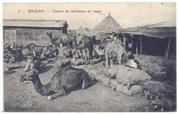 Cpa Soudan - Convoi De Chameaux Au Repos - Soudan