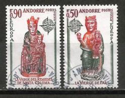 La Vierge Des Remèdes D´Andorre. 2 Timbres Neufs ** Yvert Nr 237/238. Europa 1974.,oblitérés 1 ère Qualité
