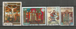 ANDORRA / ANDORRE.Europa 1975 (Fresques Religieuses) 4 Timbres Oblitérés, 1 ère Qualité. Côte 23,00 €