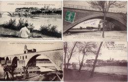 AVIGNON - 4 CPA - Pont St Bénézet - Bateau Lavoir - Peintre   (89084) - Avignon