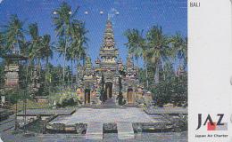 Télécarte Japon - AVIATION - JAPAN AIRLINES JAL JAZ - Temple BALI / INDONESIE - INDONESIA Rel Phonecard  Avion Site 2094 - Avions