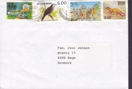 Sri Lanka 1993 Cover Brief KØGE Denmark Bird Vogel Oiseau Golden Palm Cat Columbus Stamps - Sri Lanka (Ceilán) (1948-...)