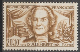 France 1959 N° 1209 Personnage Célèbre  D'Alembert Gomme Altérée (A20) - Unused Stamps