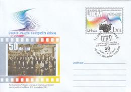 46733- FILMMAKERS UNION, CINEMA, COVER STATIONERY, OBLIT FDC, 2012, MOLDOVA - Cinema