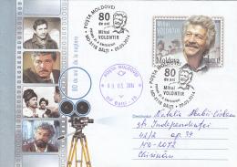 46737- MIHAI VOLONTIR, ACTOR, CINEMA, COVER STATIONERY, OBLIT FDC, 2014, MOLDOVA - Cinema