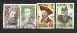 ANDORRA /ANDORRE.Europa 1980 Célebrités Andorranes:Napoléon-Charlemagne-Fiter I Rosell-Frances Cairat. Oblitérés - Andorre Français