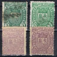 Lote Serie Completa IMPUESTO GUERRA 1875, Con Variedades, Edifil Num 154-154a-155-155a º/* - Impuestos De Guerra