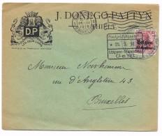 Prüfungstelle Kdtr 29  4.Armee   Publ. Les Deux Lions  THIELT   Etappen/Gent  25.3.16 - WW I