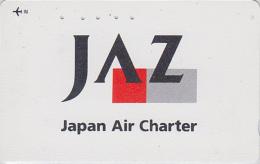 Télécarte Japon - AVIATION -  AIRLINES JAL JAZ - Japan Air Charter Phonecard Telefonkarte - Avion 2099 - Avions