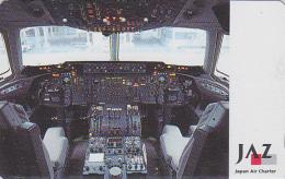 Télécarte Japon - AVIATION -  AIRLINES JAL JAZ - Japan Air Charter Phonecard Telefonkarte - Avion 2100 - Airplanes