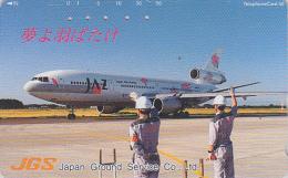Rare Télécarte Japon / 410-15950 - AVIATION -  AIRLINES JAL JAZ - Plane Japan Phonecard - Flugzeug TK - Avion 2106 - Avions