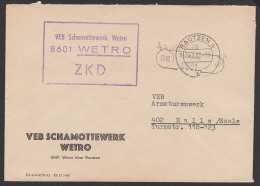 DDR ZKD Kastenstempel VEB Schamottewerk WETRO Poststellenstempel (88) Bautzen - [6] Democratic Republic