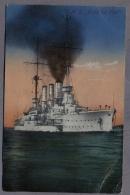 S M S Friedrich Carl  PANZERKREUZER  BATEAUX  Uber 1912y.   C914 - Guerra