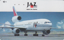 Rare Télécarte Japon - AVIATION -  AIRLINES JAL JAZ - Plane Japan Phonecard - Flugzeug Telefonkarte - Avion 2110 - Flugzeuge