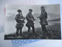 Cpa Norge Norvege Tobaksbytte Tjeldiapper Echange De Tabac - Norvège