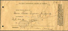 1920/30s Iceland Landsbanki Danske Landmandsbank, Hypothek Og Vekselbank Stockholm - Reykjavik Document Cover - 1918-1944 Administration Autonome