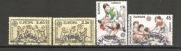 ANDORRA /ANDORRE.Europa 1989,les Jeux D´enfants (saute-mouton,le Mouchoir,etc ), 4 Timbres Oblitérés, 1 ère Qualité - Andorre Français