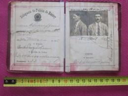 1925 DELEGACIA DE POLICIA DE BARIRY BRESIL ESTADOS UNIDOS DO BRASIL SAO PAULO CARTEIRA IDENTIDADE  CHAUFFEUR  AUTOMOBILE - Documents Historiques