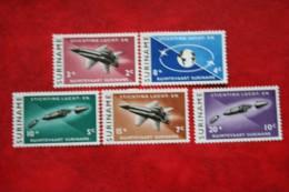 Ruimtevaart Zegels Space ; NVPH 405-409 Mi 441-445 ; 1964 MNH / POSTFRIS / ** SURINAME / SURINAM - Surinam ... - 1975