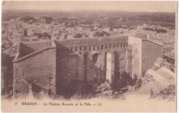 France, ORANGE, Le Theatre Romain Et La Ville, Used Postcard [18521] - Orange