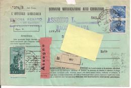SIRACUSANA L.60+60+100 P.A.,SERVIZIO ATTI GIUDIZIARI C/ ASSEGNO,1956,TIMBRO POSTA VENEZIA, - 1946-60: Marcophilia
