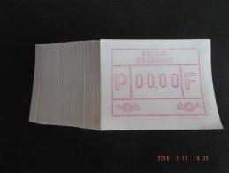 TEST-NULDRUK: 100 X Gomdruk E Papier. Nieuwe Cijfers.