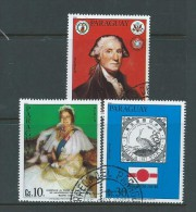 Paraguay 1981 Anniversaries & Events Airmail Set Of 3 Singles VFU Washington Queen Mother - Paraguay
