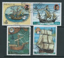 Paraguay 1985 Discovery Of The Americas Airmail Set Of 3 Singles VFU - Paraguay