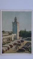 UKRAINE.  Crimea. Simferopol .RAILWAY STATION - LA GARE - BAHNHOF  -  Old  Postcard 1955 - TAXI CAR Area With Cabs - Taxi & Carrozzelle