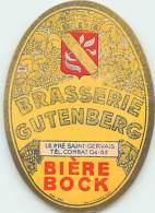 FACT -16 044 : ETIQUETTE DE BIERE BRASSERIE GUTEMBERG  LE PRE SAINT GERVAIS BIERE BOCK - Birra