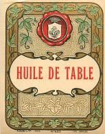 FACT -16 045 : ETIQUETTE D HUILE DE TABLE - Unclassified