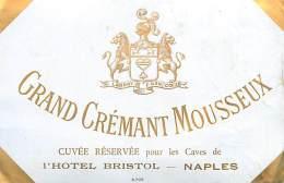 FACT -16 048 : GRAND CREMANT MOUSSEUX  CUVEE RESERVEE  CAVES DE L HOTEL BRISTOL NAPLES ITALIE - Etiquettes