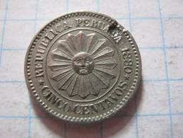 Peru 5 Centavos 1880 - Pérou