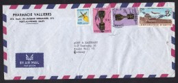 Haiti: Airmail Cover To Germany, 4 Stamps, Football / Soccer Cup, Airport, Duvalier, Flower (minor Damage) - Haïti