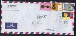 Haiti: Airmail Cover To Germany, 4 Stamps, Soccer Cup, Fruit, Martin Luther King, Hydro-electricity (minor Damage) - Haïti