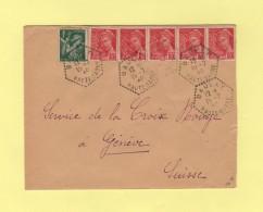 Baulay - Haute Saone - 19-7-1940 - Agence Postale - Destination Suisse - 1877-1920: Semi-moderne Periode