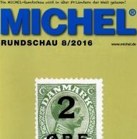MICHEL Briefmarken Rundschau 8/2016 Neu 6€ New Stamps Of The World Catalogue/ Magacine Of Germany ISBN 978-3-95402-600-5 - Mitteilung