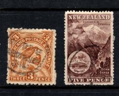 """NZ  1898   """"3d & 5d Pictorials""""  U   (0) - 1855-1907 Crown Colony"""
