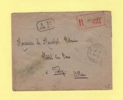 Arc Les Gray - Haute Saone - 4-12-1943 - Recommande D Office En Franchise Adresse Au Marechal Petain - 1921-1960: Modern Tijdperk