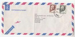 1970s Air Mail YUGOSLAVIA InterExport Co COVER To ICI PETROCHEMICALS DIVISION GB Stamps Energy Oil Minerals - 1945-1992 Sozialistische Föderative Republik Jugoslawien