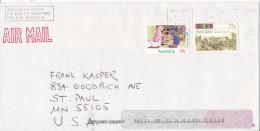 Australia Cover Sent Air Mail To USA Robart 21-4-1998 - 1990-99 Elizabeth II