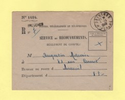 Breuches - Haute Saone - 1948 - Service Des Recouvrements - Storia Postale