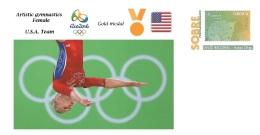 Spain 2016 - Olympic Games Rio 2016 - Gold Medal Artistic Gymnastics Female USA Cover - Juegos Olímpicos