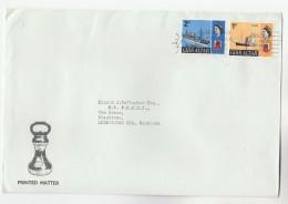 1968 GIBRALTAR COVER Stamps SHIP SS ARAB, Navy HMS CARMANIA To GB - Gibraltar