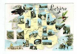 12207 Cmp  Carte Photo Géographique De La LOZERE , Departement 48 - Non Classés