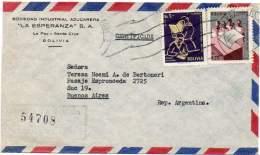 BOLIVIA 1963 - Registered Air Cover From La Paz To Buenos Aires, Argentina. Revolution Of 1952. - Bolivia