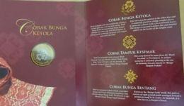 Malaysia 2005 1 Ringgit   Songket The Regal Heritage Nordic Gold BU Coin Card - Malaysia